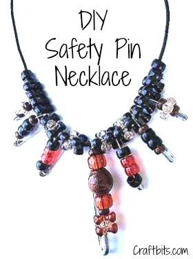 DIY Necklace – Safety Pin & Beads