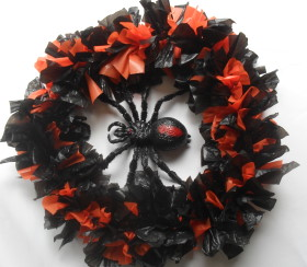 Halloween Coat Hanger and Bags Wreath