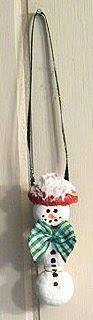 Acorn Snowman Ornament