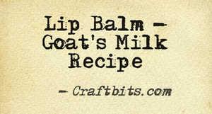 Lip balm – Goat's Milk