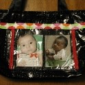 Handmade Photo Diaper Bag