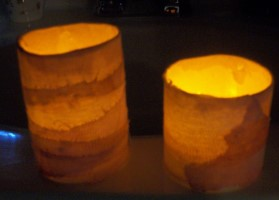 Recycled Plastic Tub Luminary