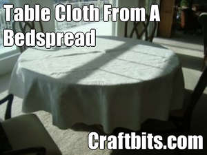 Bedspread To A Table Cloth