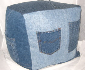 Denim Jeans Pillow Form Cover