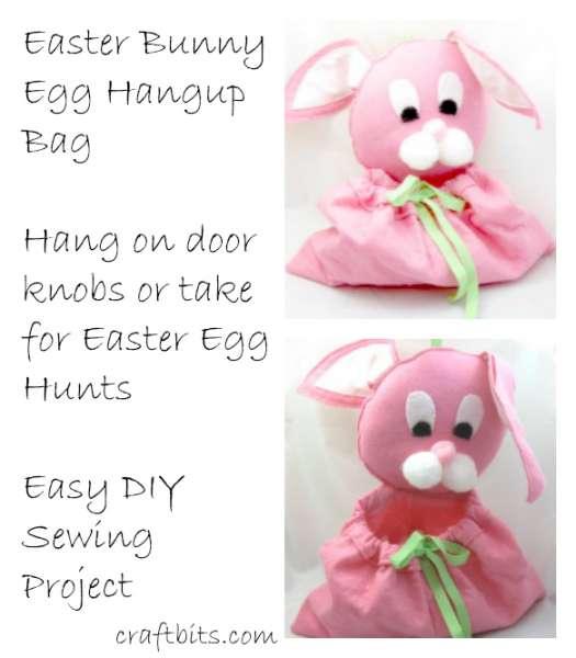 Easter Bunny Hangup Egg Bag