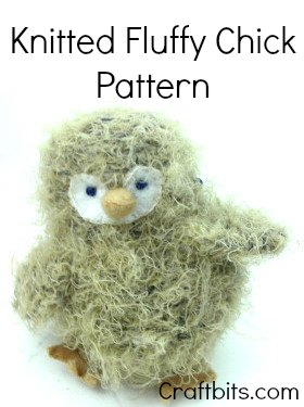 Knitted Fluffy Chick