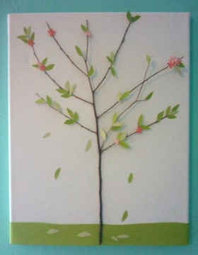 Twig Tree Canvas Art