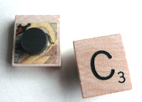 Recycled Scrabble Tile Magnets