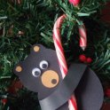 Tree Ornament: Candy Cane Bear