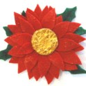 Christmas Brooch - Poinsettia