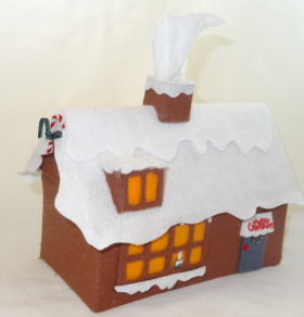 Felt Christmas House – Tissue Box