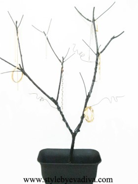 Jewelry holder tree branch for Tree branch jewelry holder