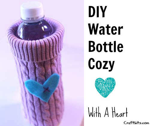 Old Sweater To A Bottle Cozy