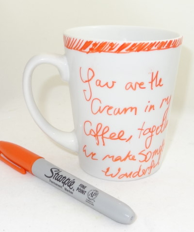 Sharpie Pen Project – Coffee Cup Love