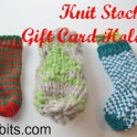 Knit Stocking Gift Card Holders