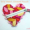 Valentines Heart Zipper Pouch