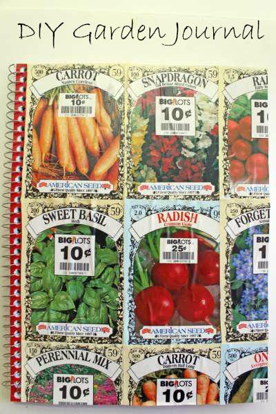 Seed Packet Garden Journal craftbitscom