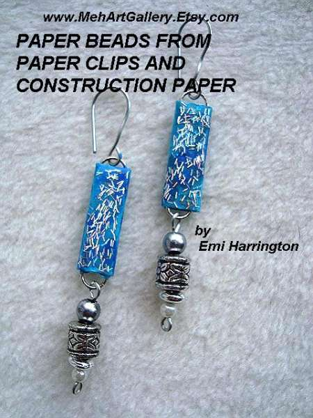 Paper Clip - paper beads
