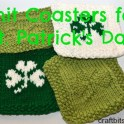 knit st. patrick's day coasters