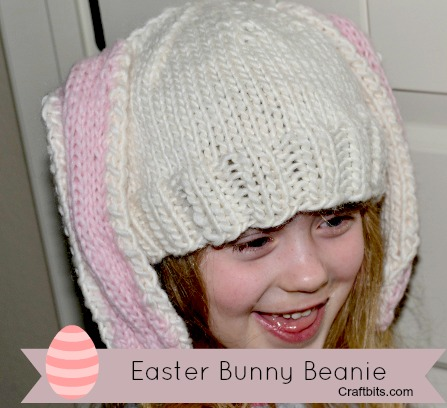 Bunny Ears Knitting Pattern : Knit Bunny Ear Hat   craftbits.com