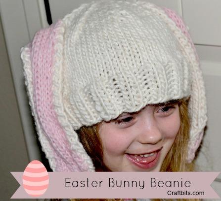 Knit Bunny Ear Hat   craftbits.com
