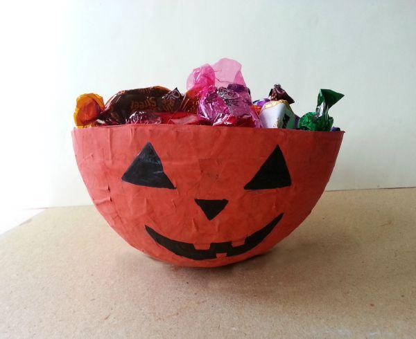 Mod-Podge Halloween Bowl
