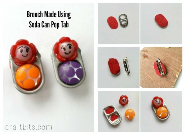Soda Can Pop Top Brooch Pins