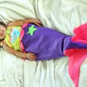 DIY Mermaid Tail Blanket