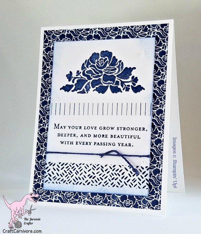 Stampin Up Pals Blog Hop Pattern Party Floral Boutique Floral Phrases Wedding Anniversary Ideas - The Jurassic Crafter stampinup