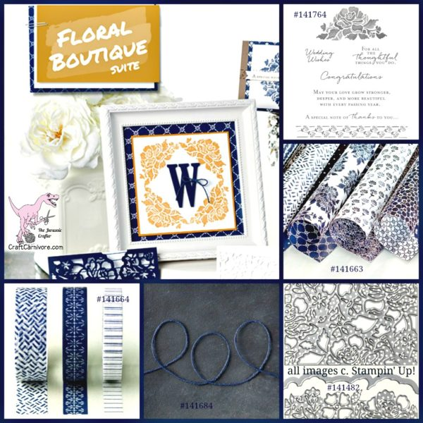 Pals Blog Hop Pattern Play Floral Boutique Floral Phrases Wedding Anniversary Ideas - The Jurassic Crafter stampinup