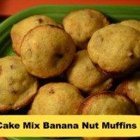 Whip It Up Wednesday / Cake Mix Banana Nut Muffins