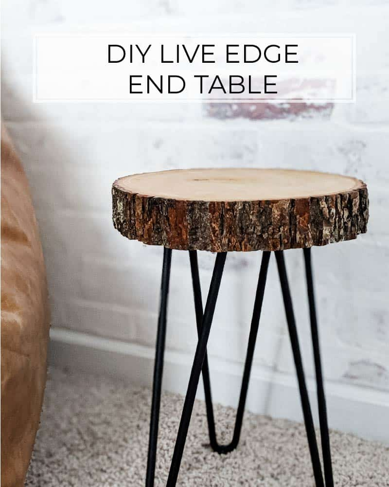 Easy Diy Live Edge End Table With Hairpin Legs Crafted By The Hunts
