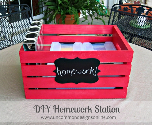DIY Portable homework station - Uncommon Designs
