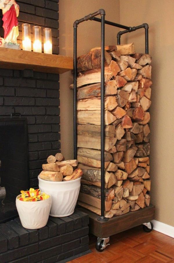 Indoor wood storage bench plans