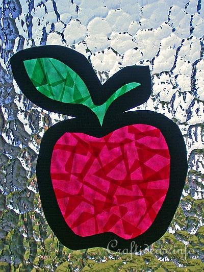 Apfel Fensterbild Summer Crafts - Crafts For Kids - Paper Apple Suncatcher