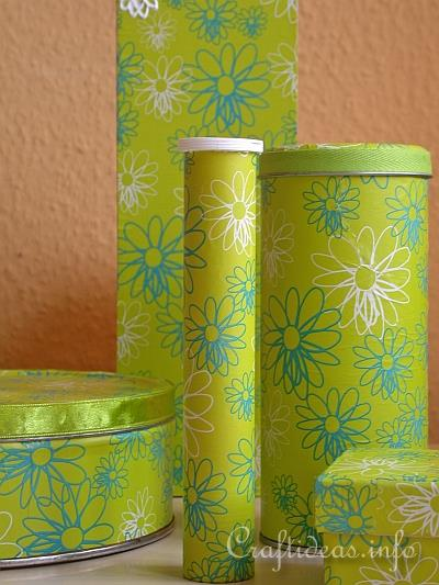 Vasen Design Summer Crafts - Recycling Craft - Decoupage Fun With