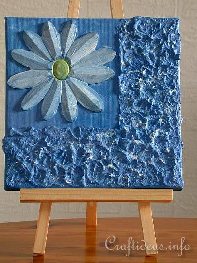 Foto Auf Keilrahmen Free Craft Project - Daisy Painting