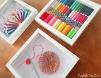 Crocheting Inspired String Art - Craft Room Wall Art ...