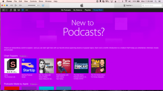 iTunes Front Page