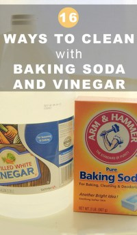 How to Clean with Baking Soda and Vinegar - Crafting a ...