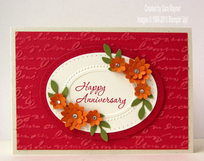 Pretty Print anniversary card Sara\u0027s crafting and stamping studio