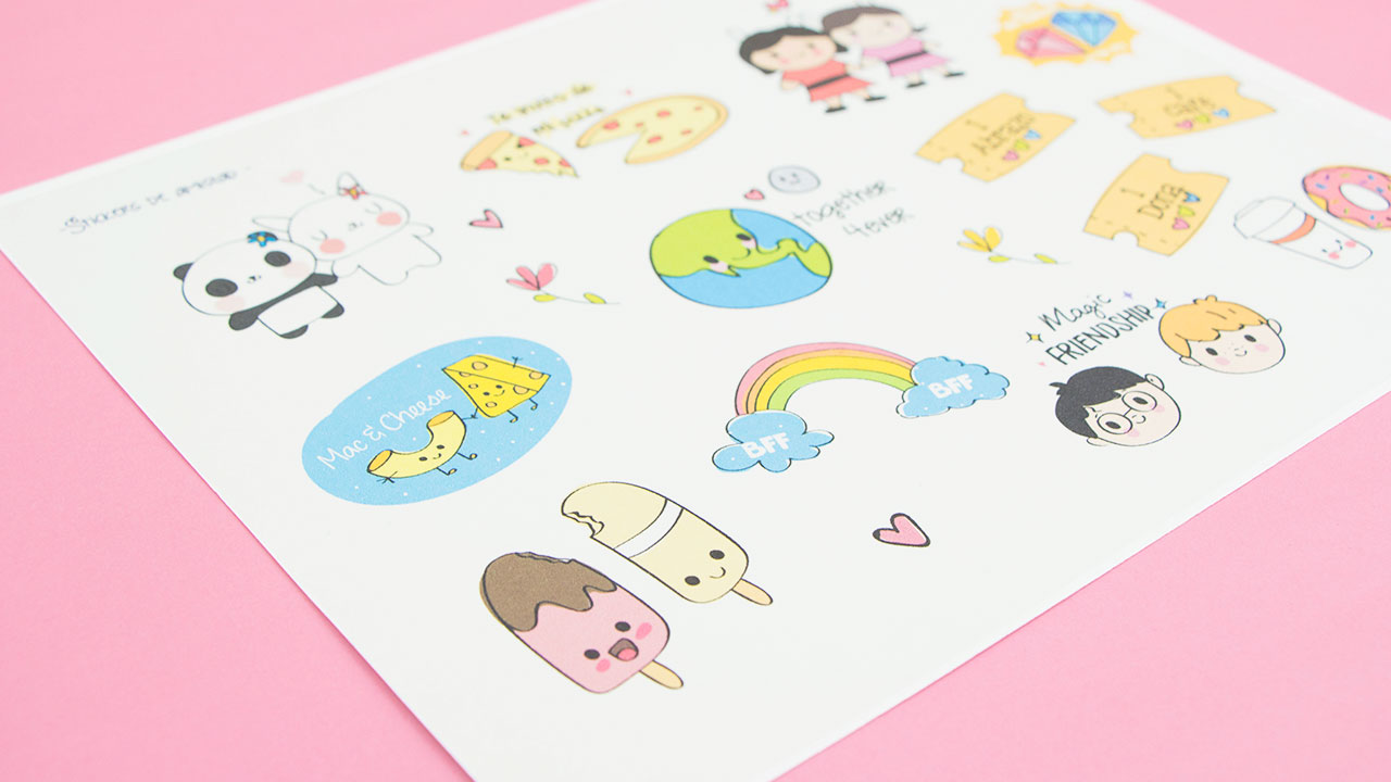 Como Decorar Una Carta Lindos Stickers Descargables De Amistad Craftingeek
