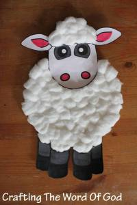 Paper Plate Sheep  Crafting The Word Of God