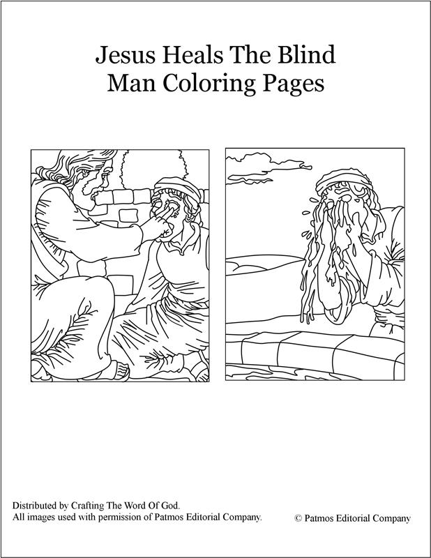 Jesus Heals The Blind Man Coloring Pages Crafting SaveEnlarge