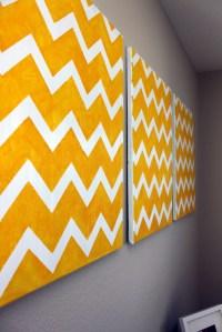 DIY Chevron Wall Art | Craftistas