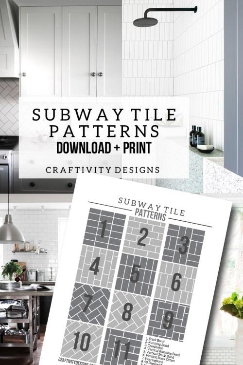 Medium Of Subway Tile Sizes