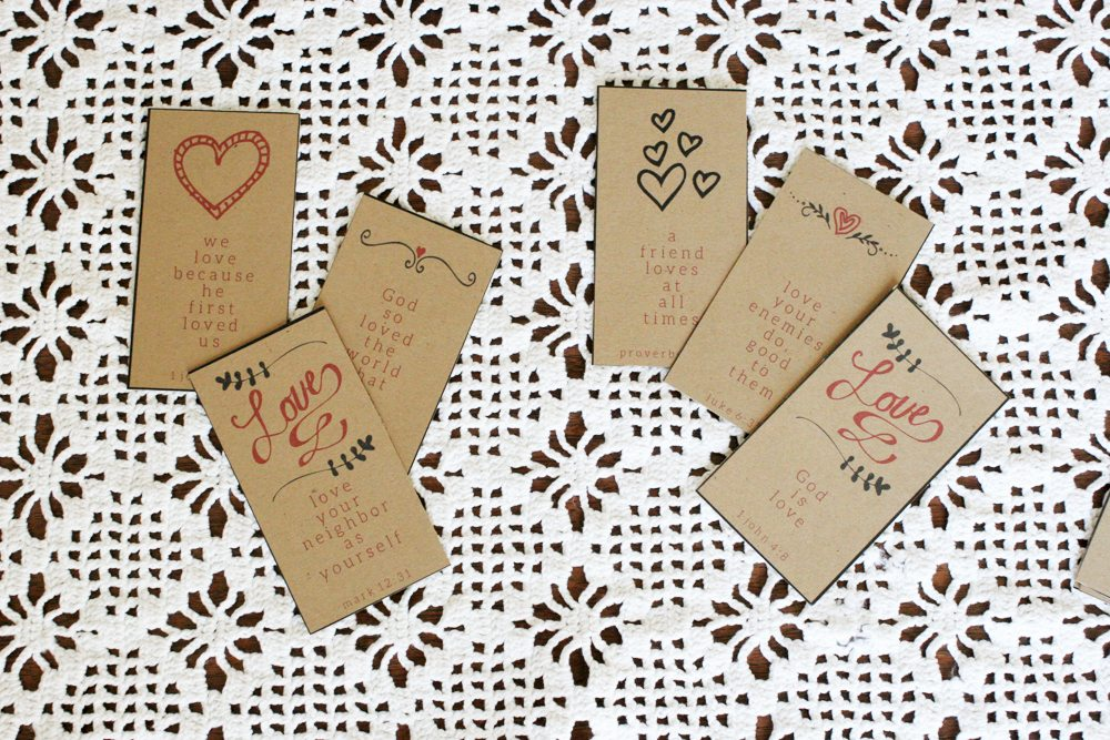 How to Make a Set of 10 Beautiful Valentines Bible Verse Cards