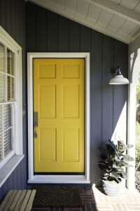 Exterior Color | Yellow Front Door Ideas  Craftivity Designs