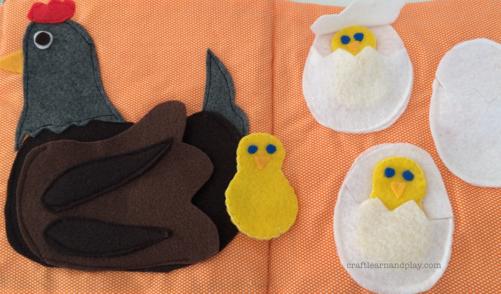 Quiet Book Ideas – Mother Hen with Chicks | Craft Learn & Play ...