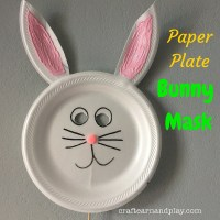 How To Make Paper Plate Bunny Mask in 5 Simple Steps